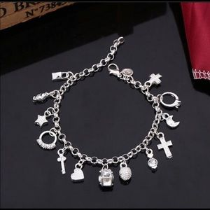 """Jewelry - ⭐️COMING SOON 925 Stamped SS  8"""" Charm Bracelet"""